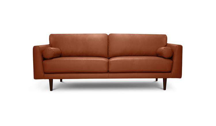 Habitat Jackson 4 Seater Leather Sofa - Tan