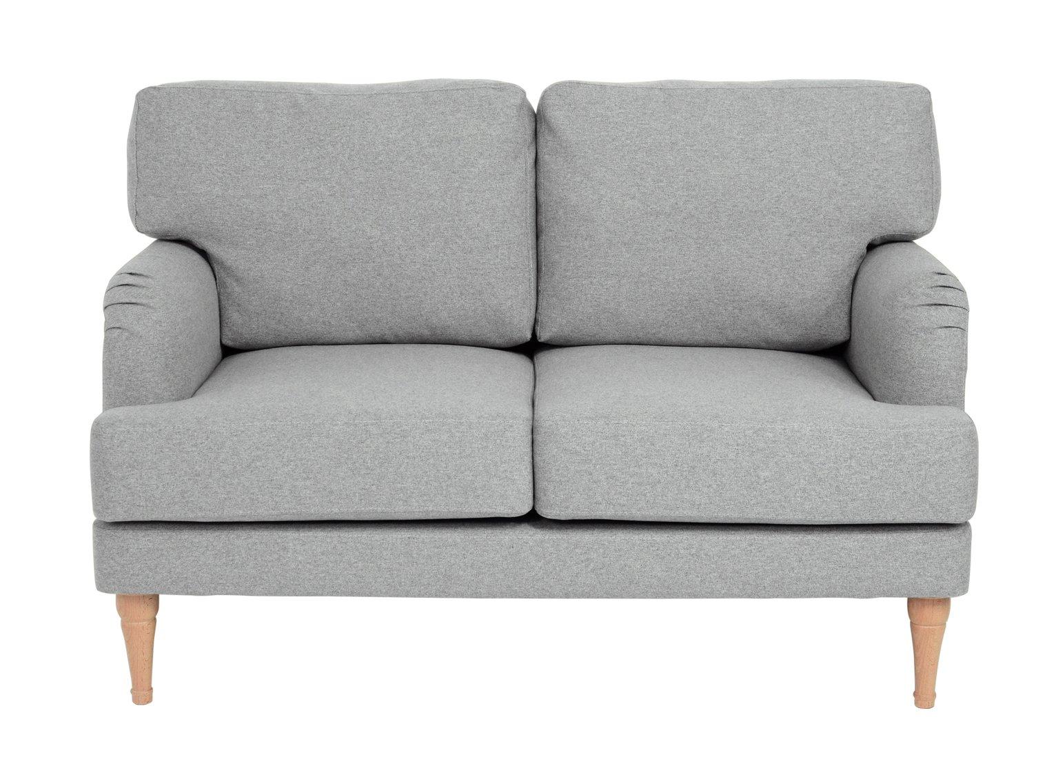 Argos Home Dune 2 Seater Fabric Sofa - Light Grey