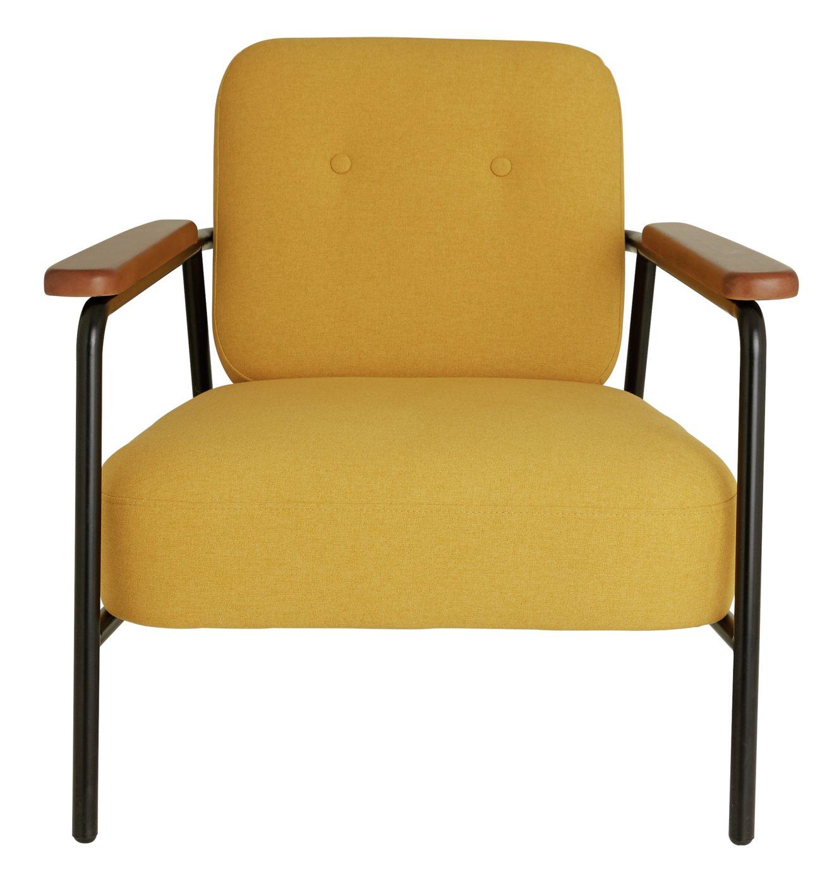 Habitat Cooper Yellow Fabric Armchair