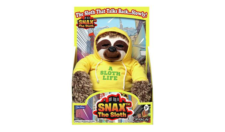 John Adams Snax the Sloth Soft Toy