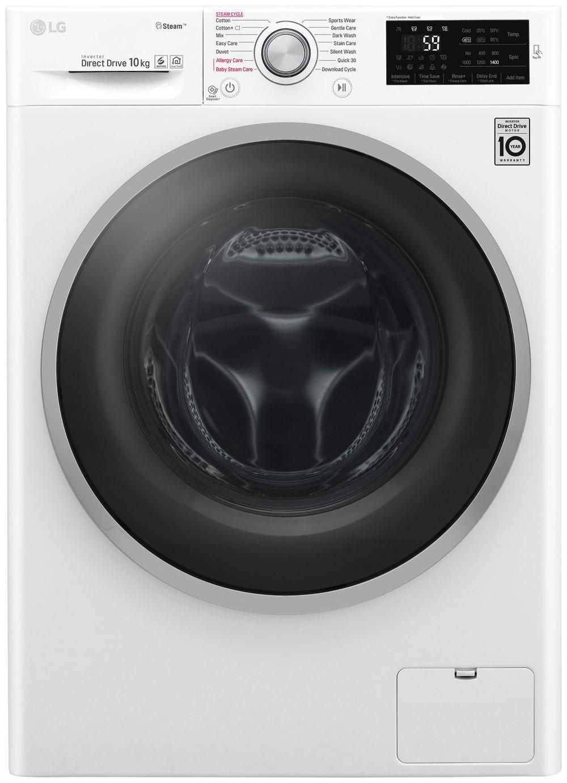 LG F4J6JY1W 10KG 1400 Spin Washing Machine - White
