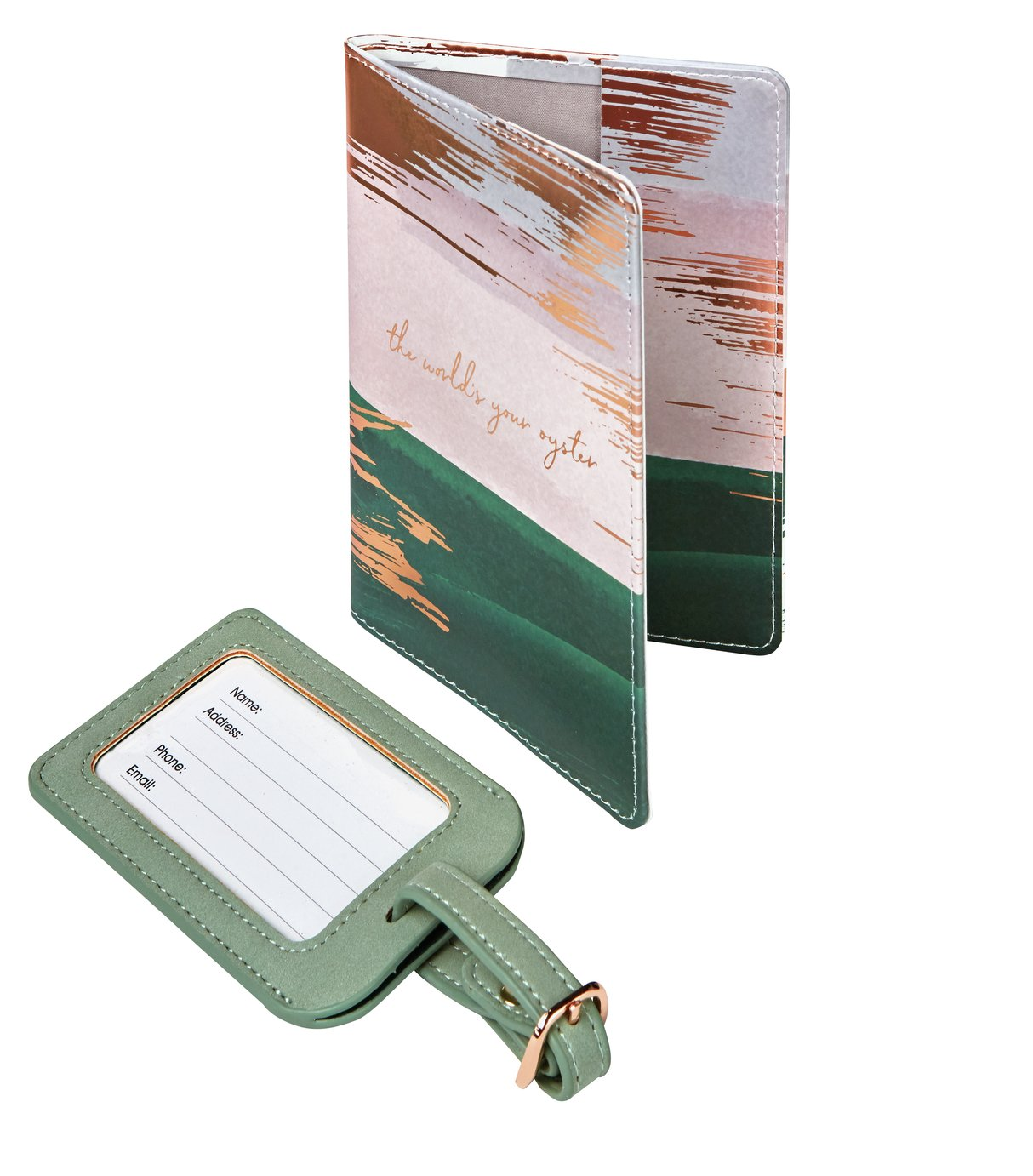Tranquil Retreat PU Passport Holder and Luggage Tag