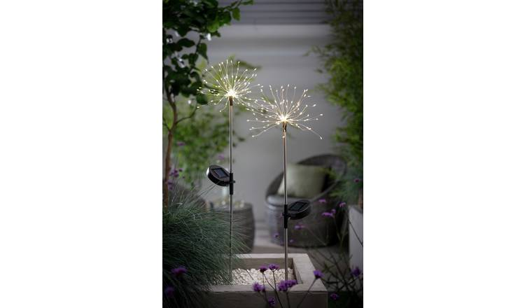 Habitat 2 Warm White LED Firefly Stake Solar Lights