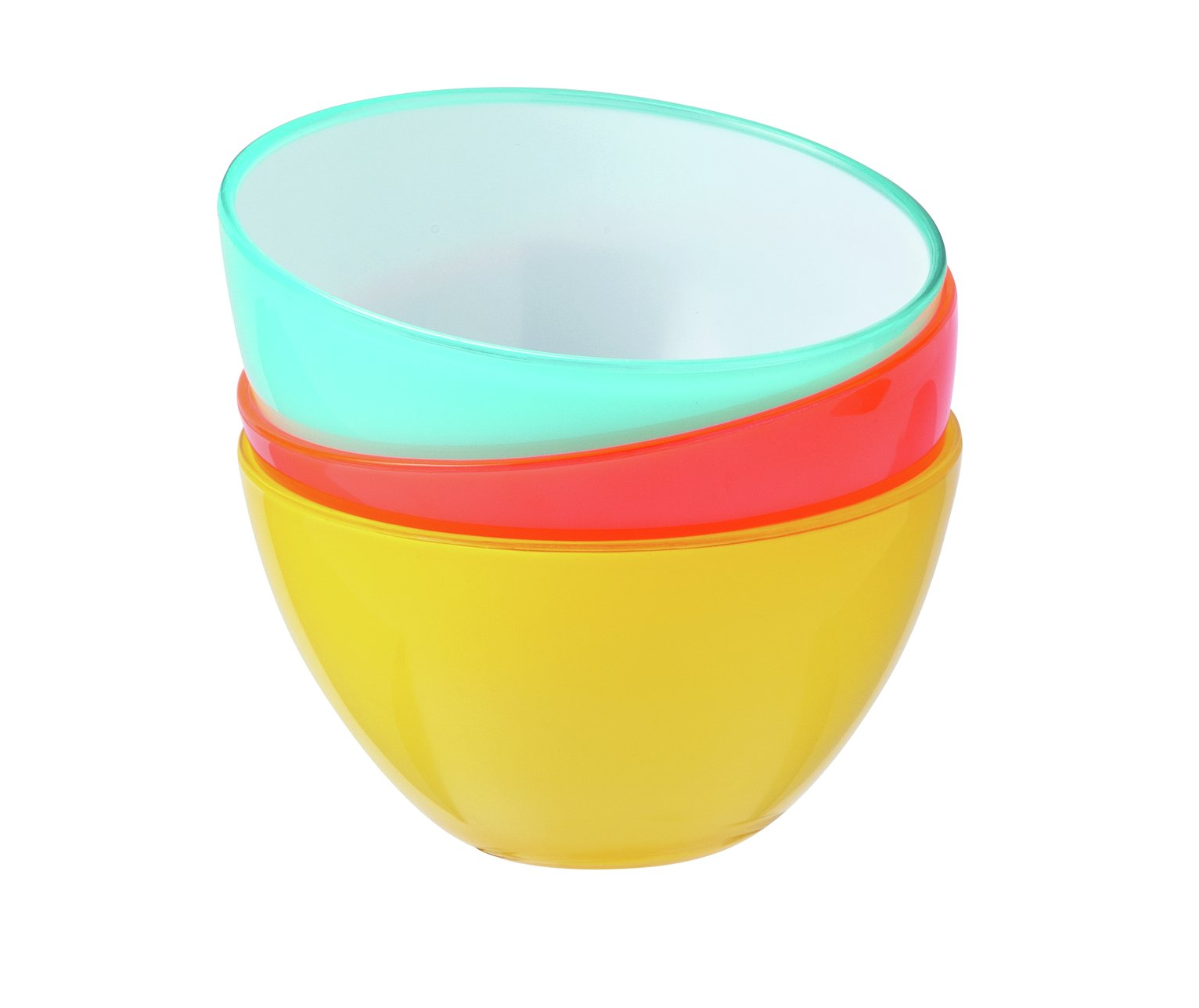 Argos Home Miami Double Inject Plastic Cereal Bowl - 4 Pack