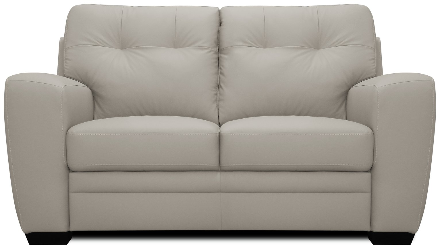 Argos Home Raphael Compact 2 Seater Leather Mix Sofa - Grey