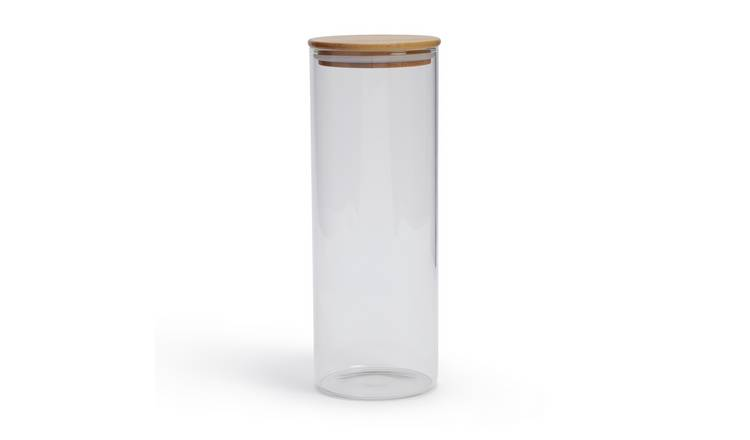 Habitat 1.8 Litre Glass Jar with Bamboo Lid