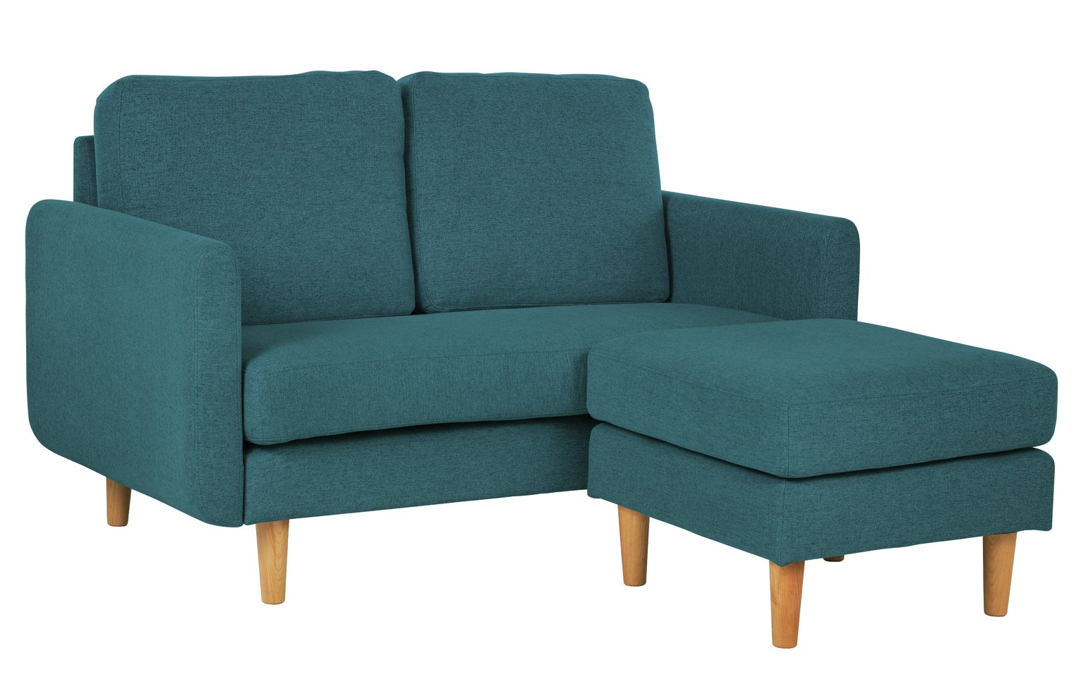 Habitat Remi 2 Seater Fabric Chaise in a Box - Teal