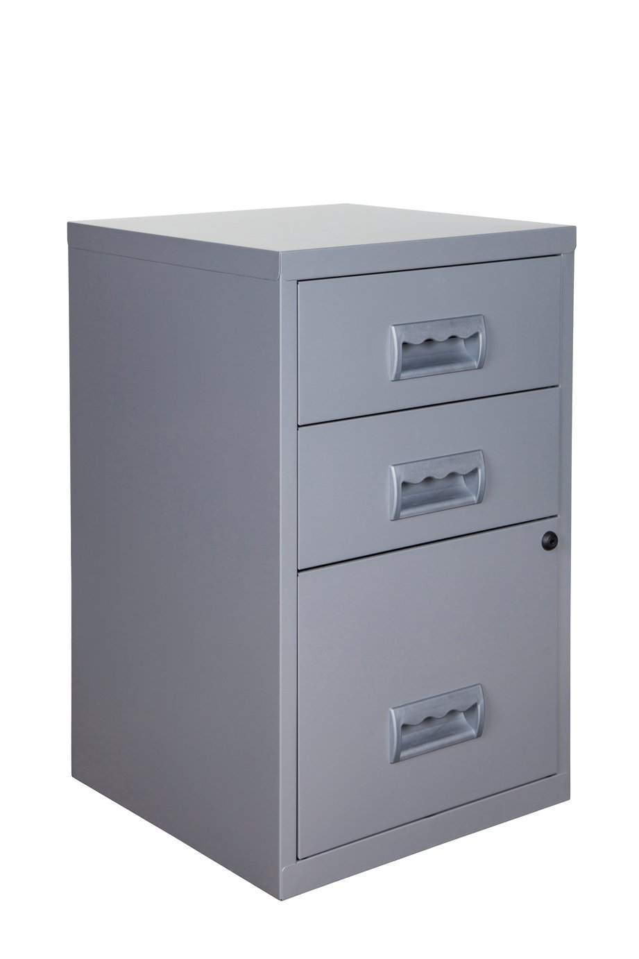 Pierre Henry A4 3 Drawer Combi Filing Cabinet - Silver