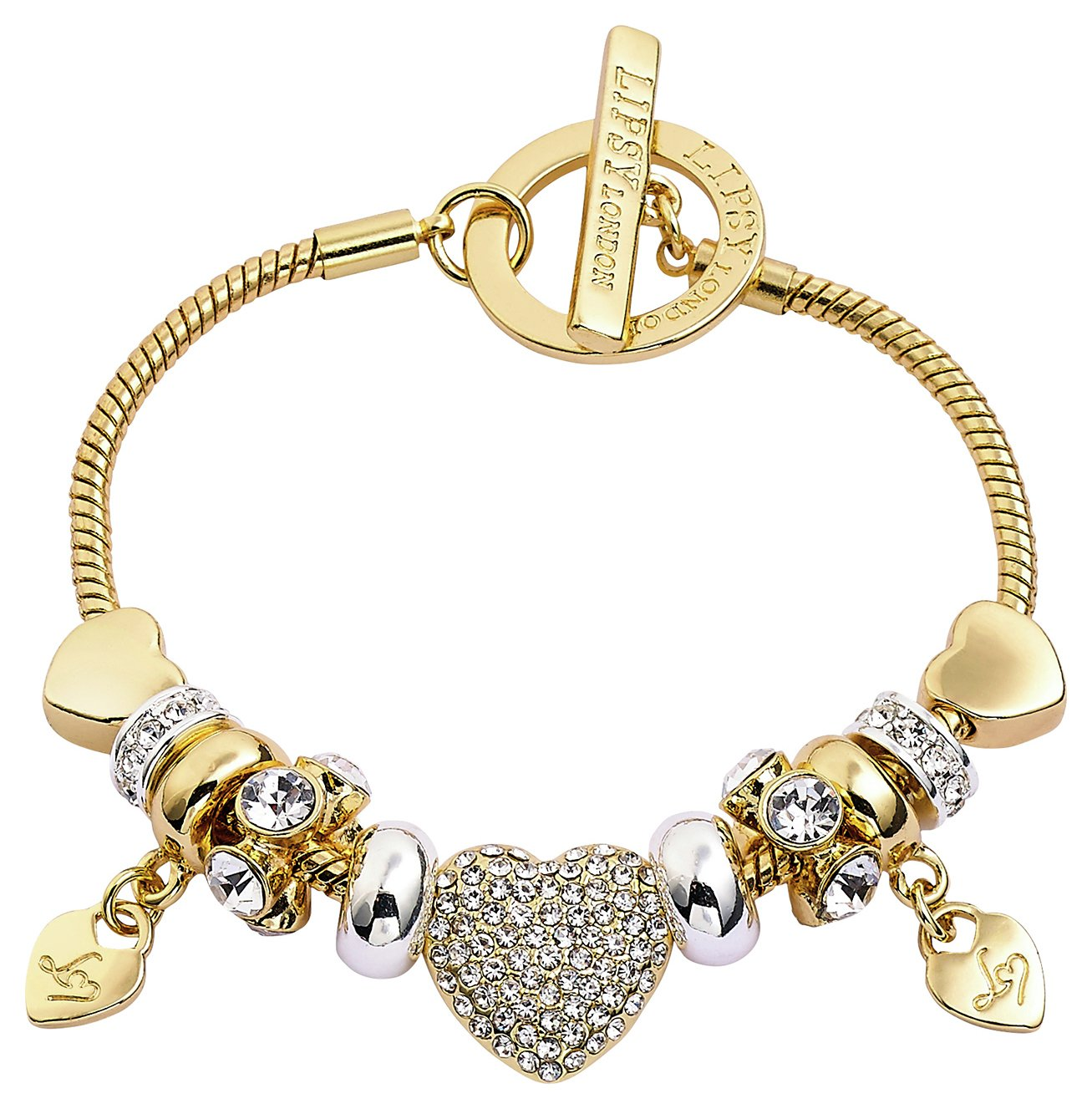 Lipsy Two Tone Colour Charm Bracelet