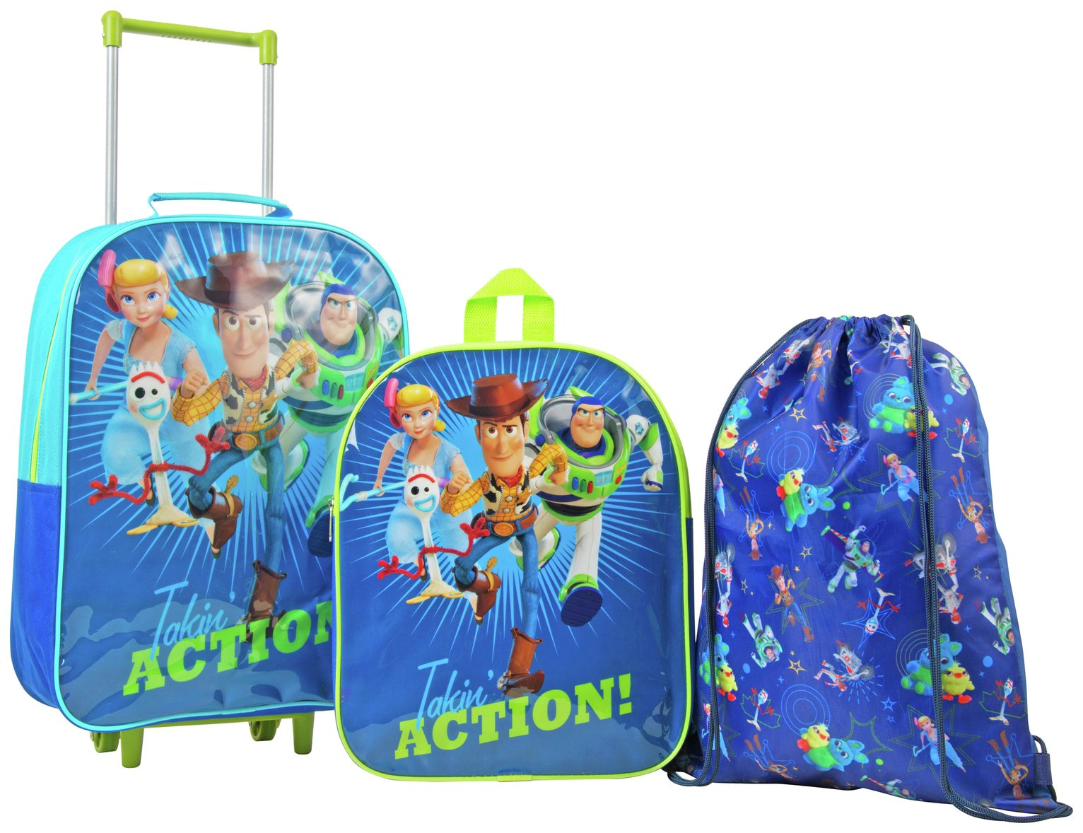 Disney Toy Story 3 Piece Kid's Luggage Set