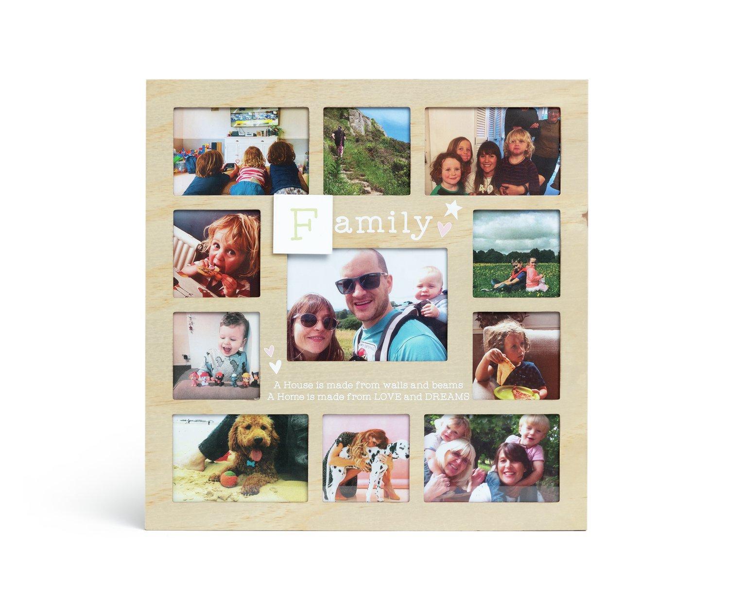 Family Multi Aperture Photo Frame