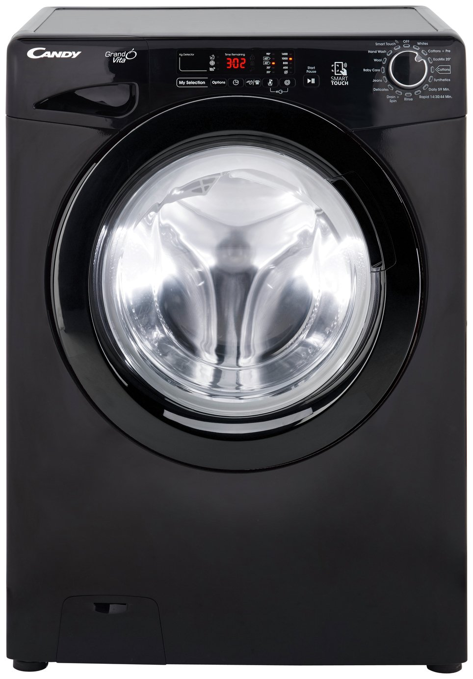 Candy GVS149D3B 9KG 1400 Spin Washing Machine - Black Best Price, Cheapest Prices