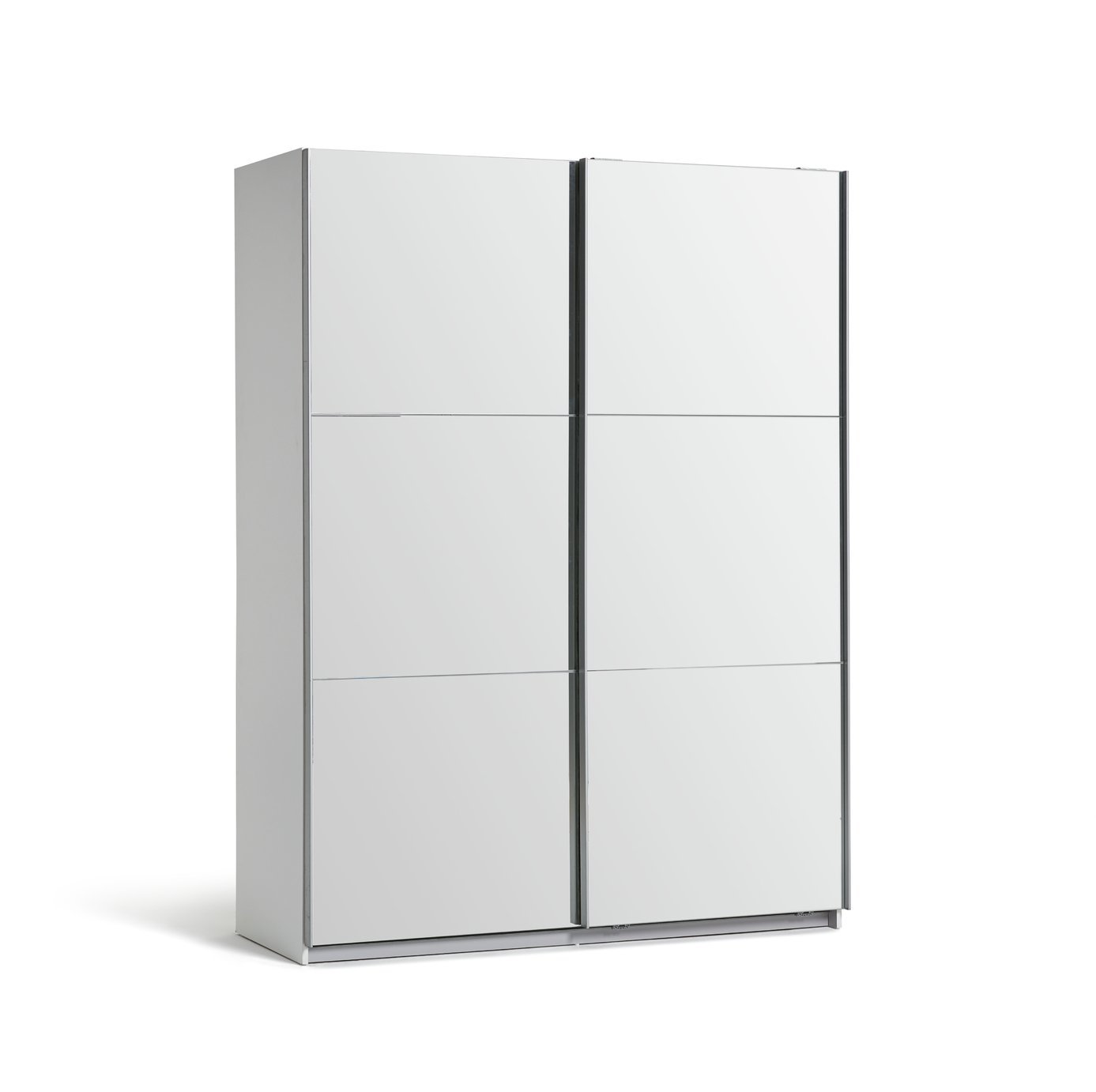 Argos Home Holsted Mirrored Medium Wardrobe - White