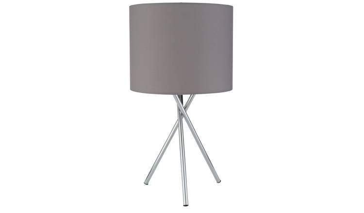 Buy Argos Home Tripod Table Lamp Chrome Grey Table Lamps Argos