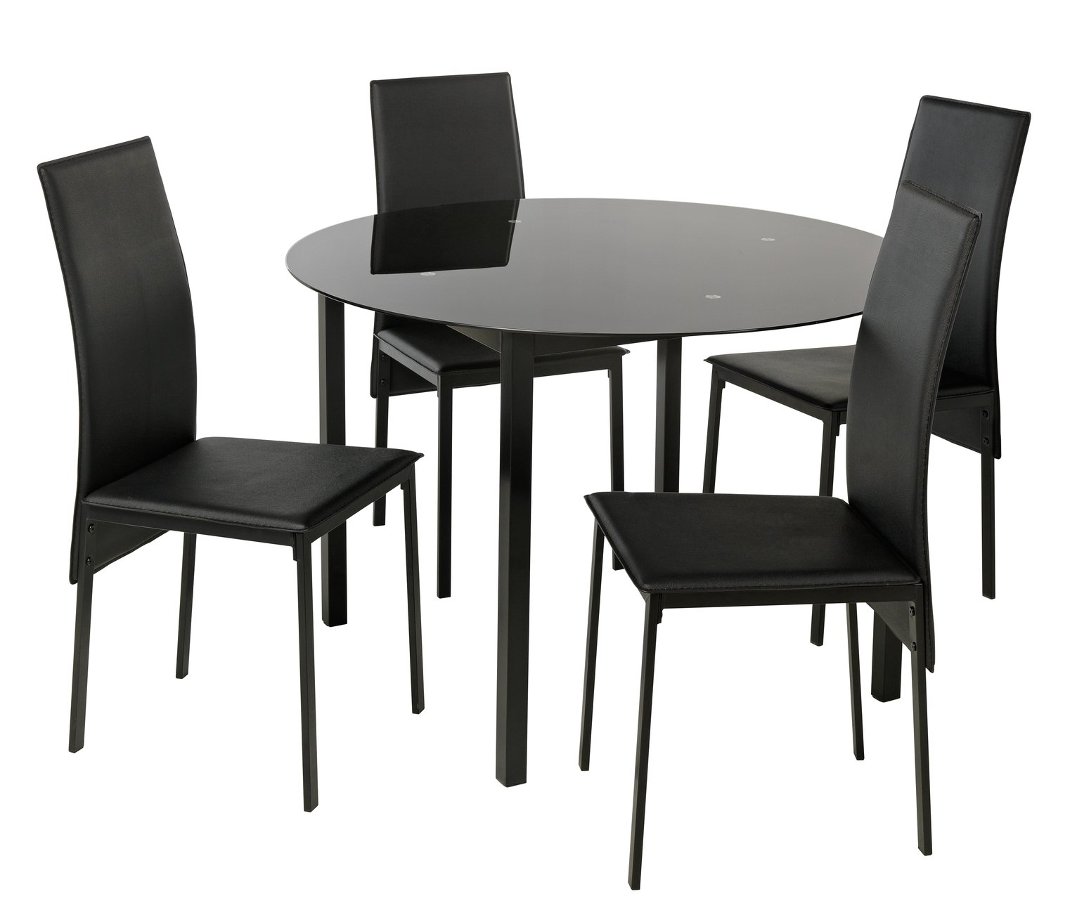 Gino Glass Round Dining Table