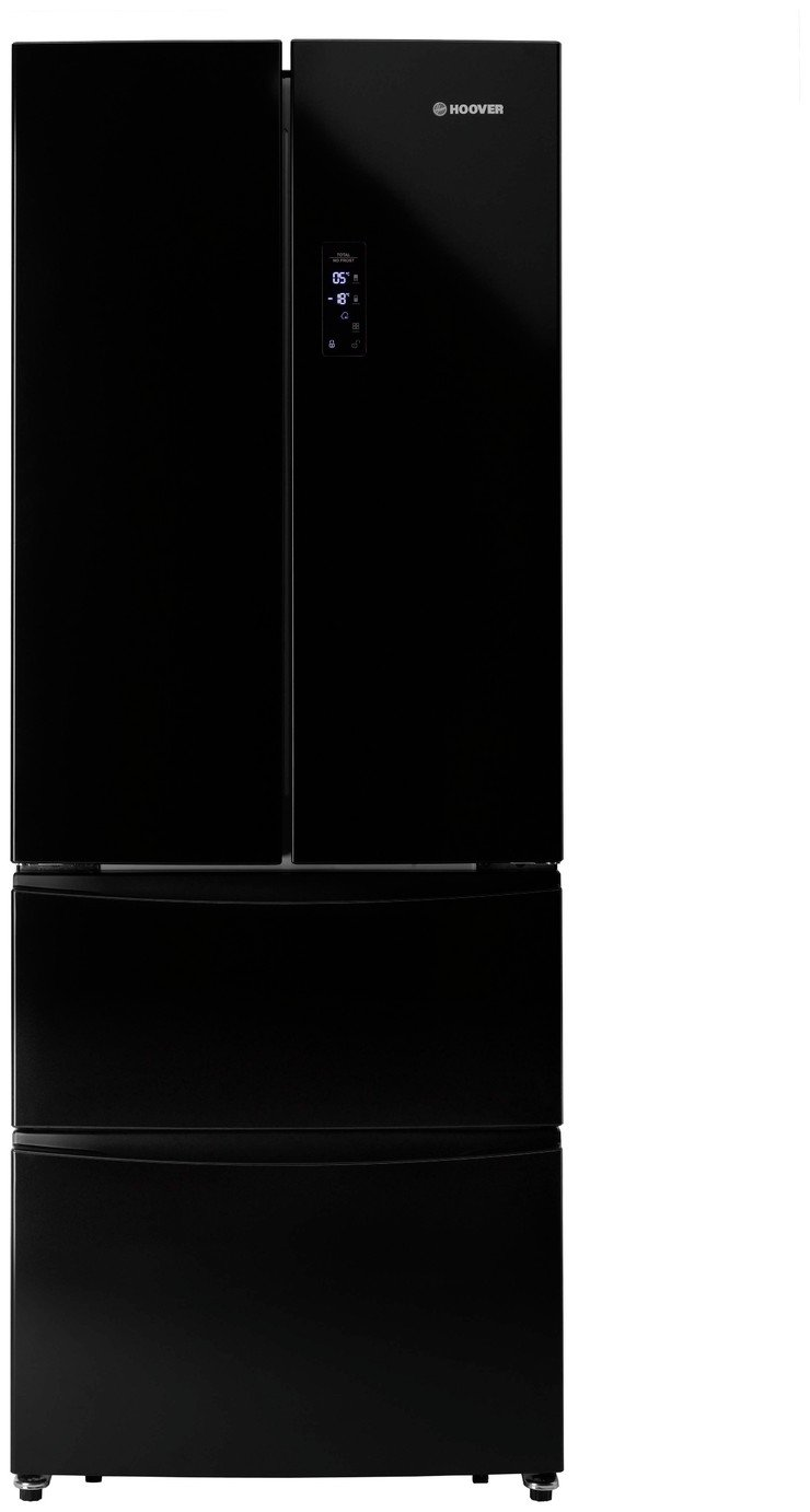 Hoover HMN7182BK American Fridge Freezer - Black Best Price, Cheapest Prices