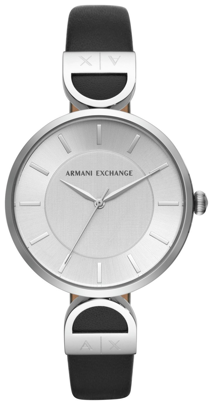 Armani Exchange AX5323 Ladies' Black Leather Strap Watch