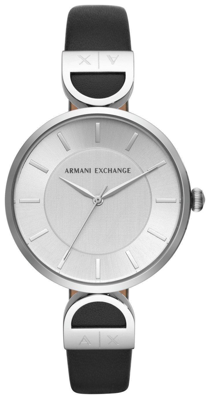Armani Exchange AX5323 Ladies' Black Leather Strap Watch