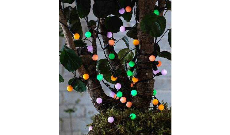 premium selection e5e86 101d4 Buy Argos Home 50 Multicoloured Berry Solar String Lights | Fairy lights  and string lights | Argos