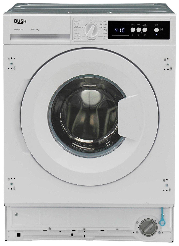 Bush WMSAEINT712W 7KG 1200 Spin Washing Machine - White