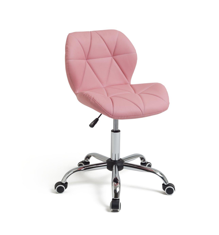 Habitat Boutique Faux Leather Office Chair - Pink