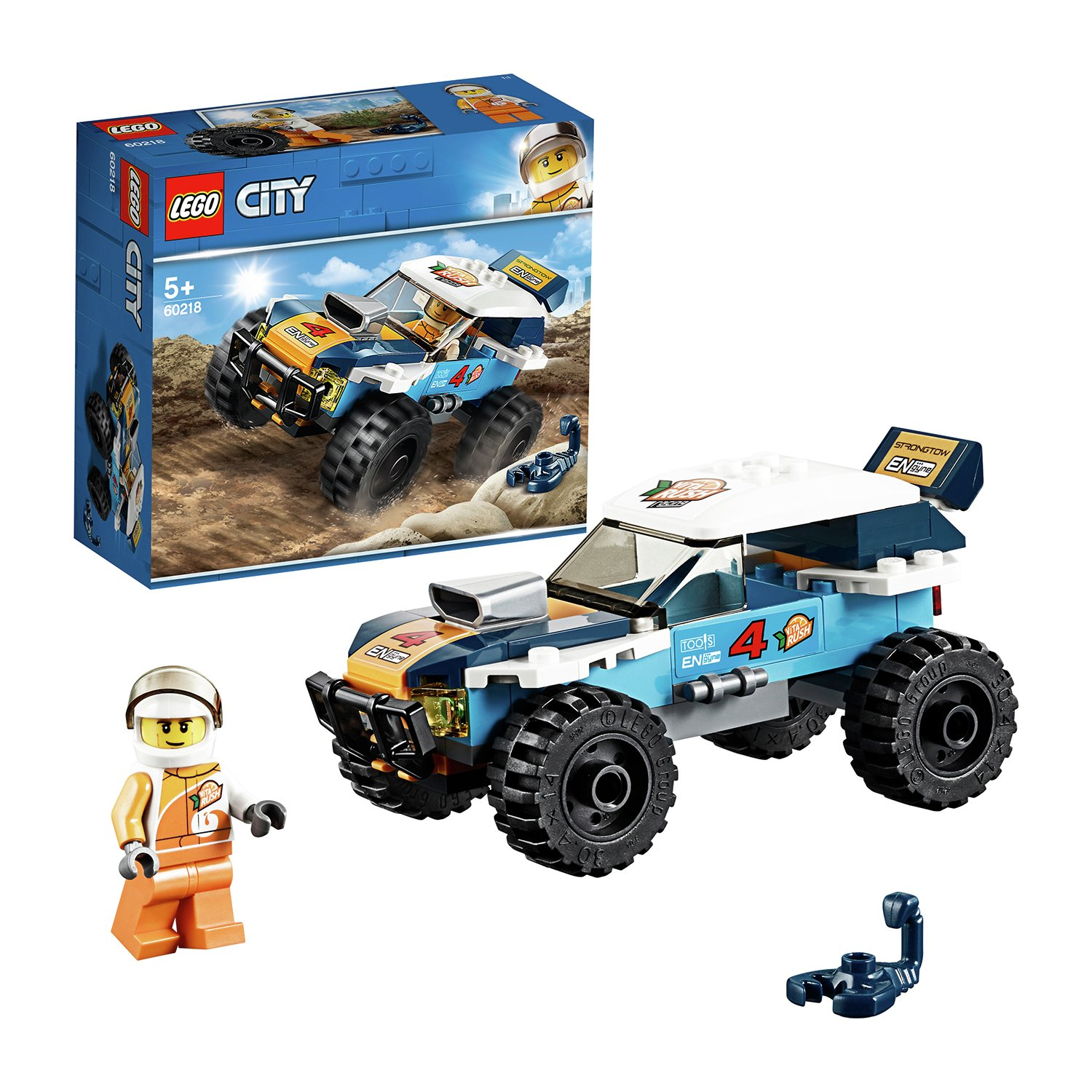 LEGO 60218 City Great Vehicles Desert Rally Racer Toy Car, Racing Construction Set for Kids Best Price and Cheapest