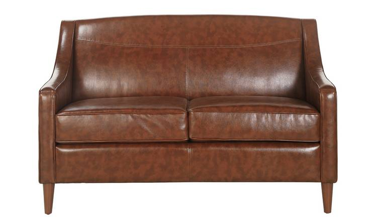 Tan Faux Leather Couch