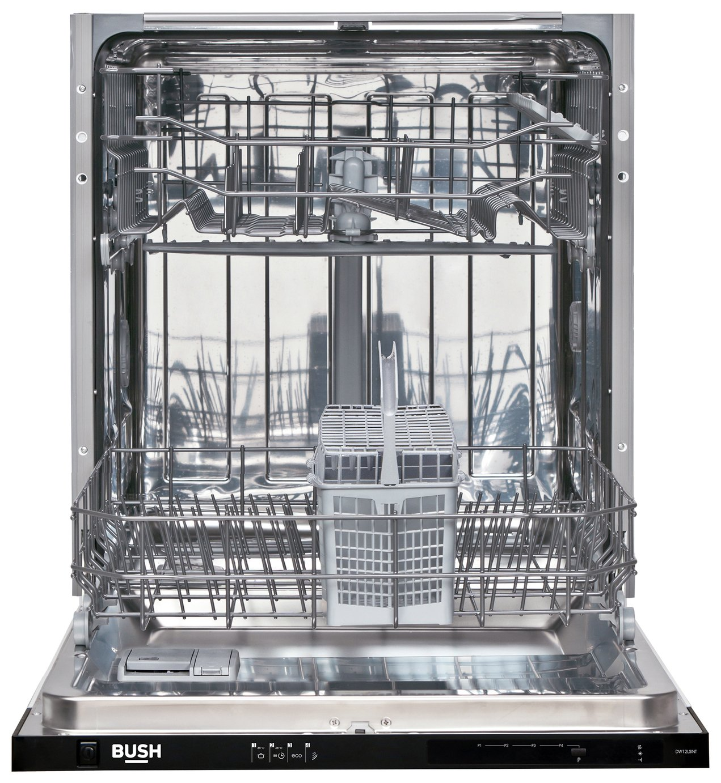 Bush DW12SAE Full Size Integrated Dishwasher - White