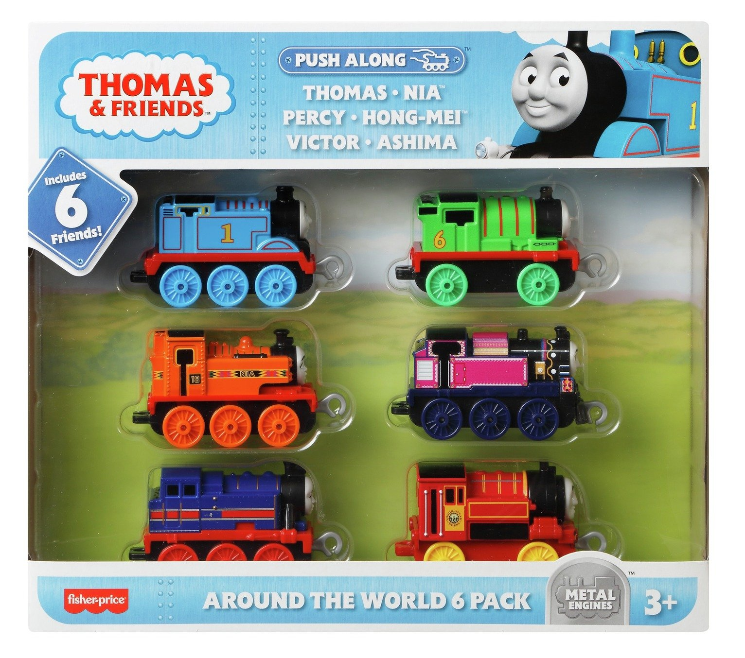 Thomas & Friends All Around the World 6 Pack TrackMaster