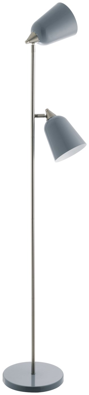 Habitat Double Floor Lamp - Grey