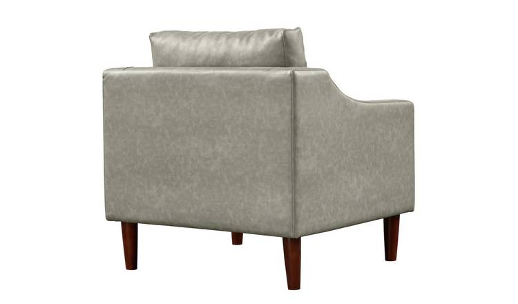 Buy Argos Home Brixton Faux Leather Armchair Grey | Armchairs and chairs | Argos