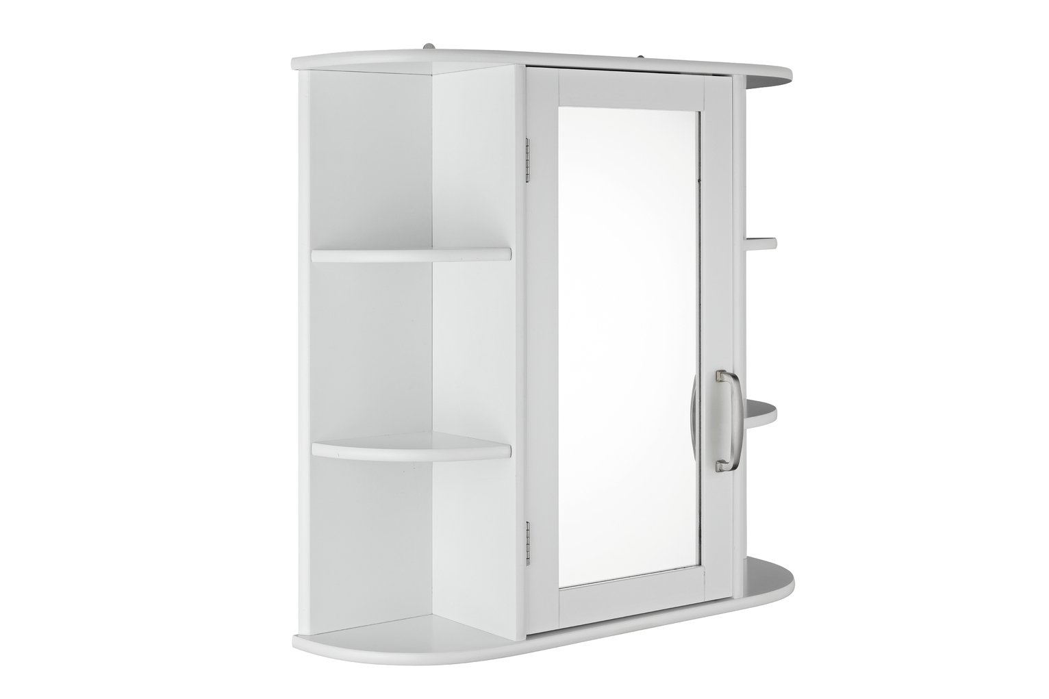 Argos Home Single Mirrored Wall Cabinet - White