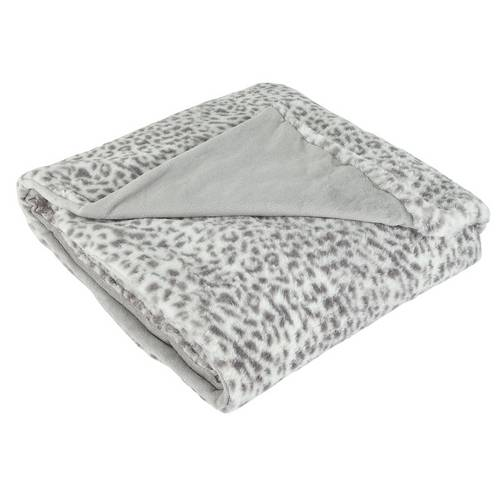 Buy Argos Home Animal Print Throw - Grey | Blankets and throws | Argos