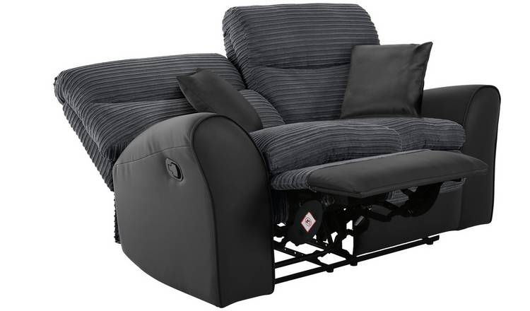 Argos Home Harry 2 Seater Fabric Recliner Sofa - Charcoal