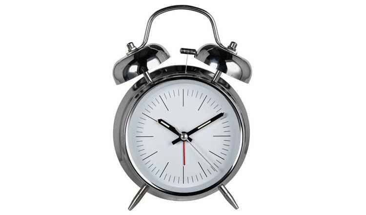 Constant Twin Bell Alarm Clock - Silver