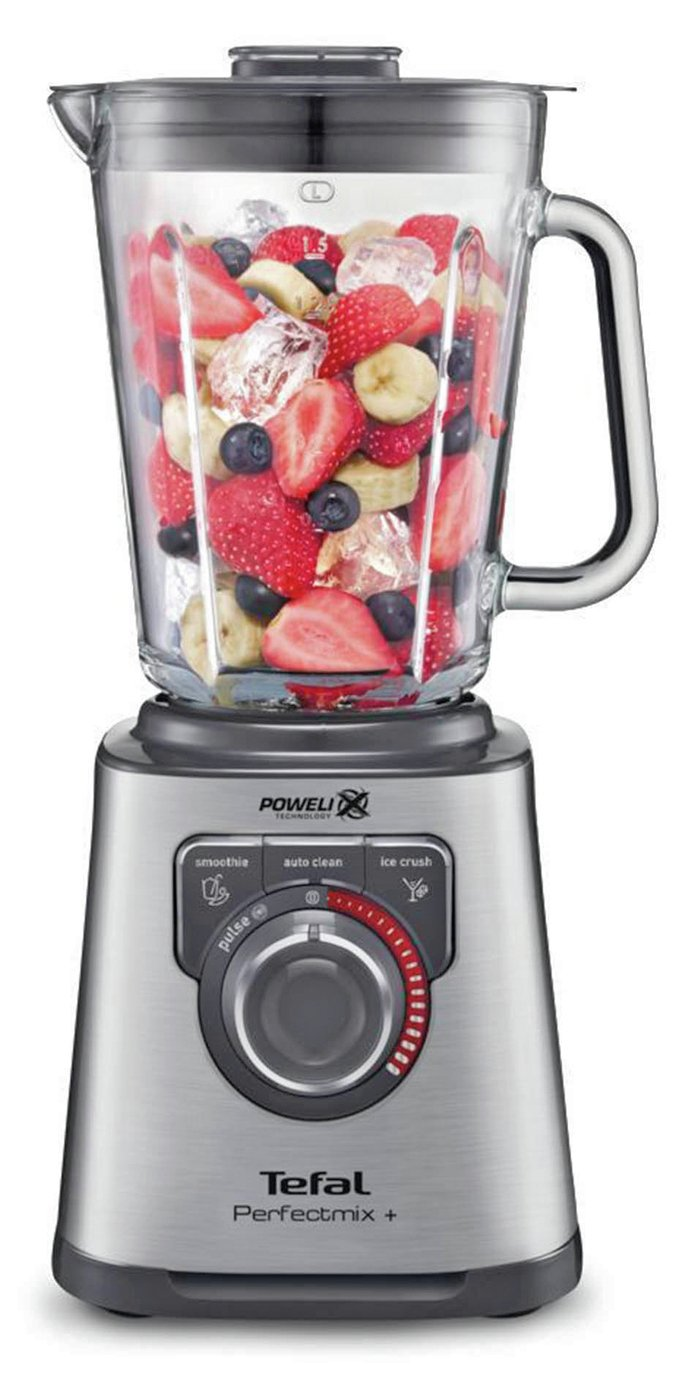 Tefal Perfect Mix 2L Glass Jug Blender - Stainless Steel