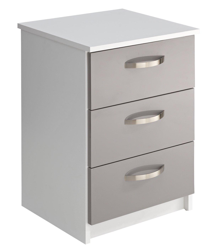 Argos Home Cheval 3 Drawer Bedside Cabinet