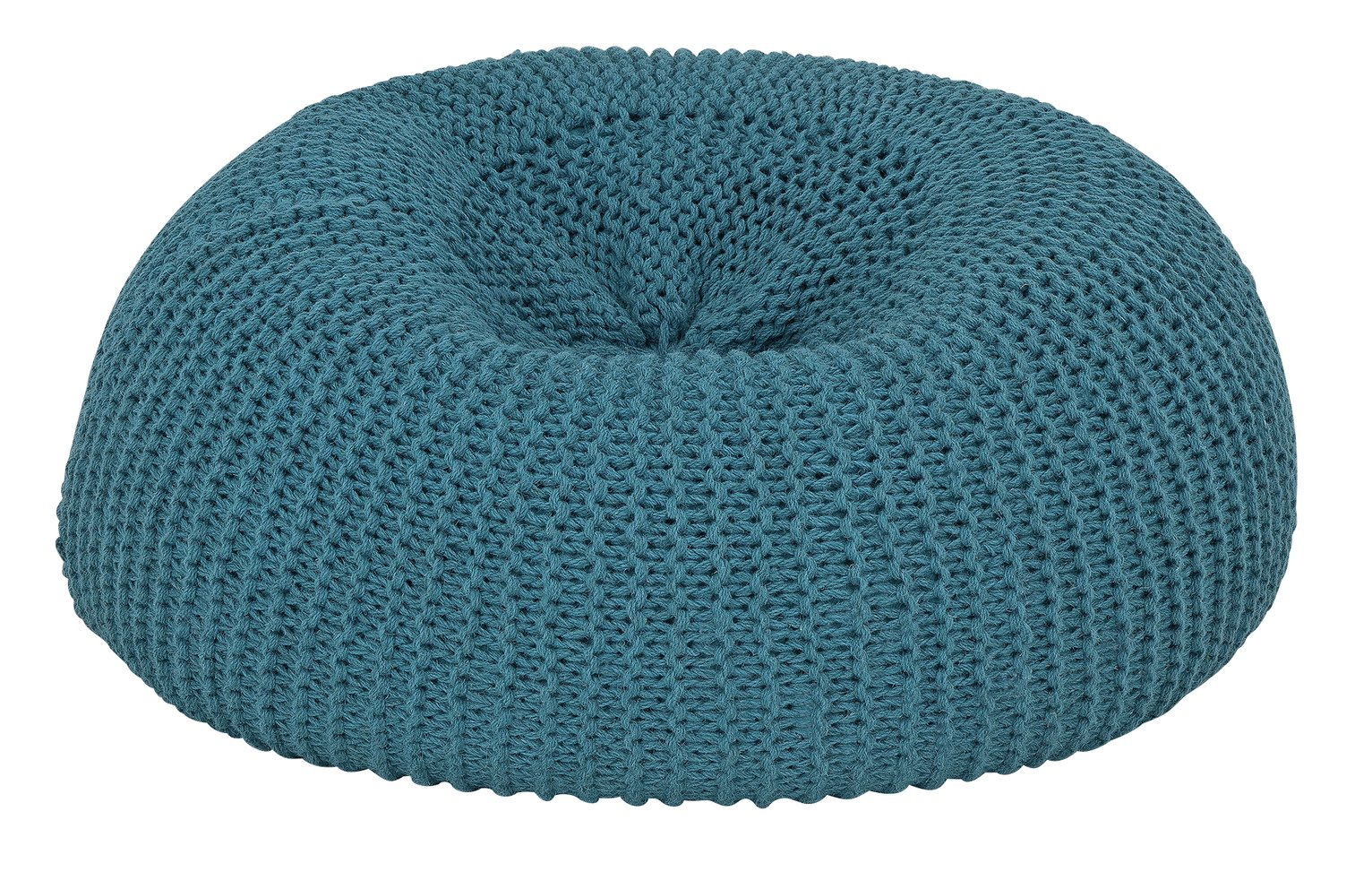 Argos Home Large Wool Beanbag - Teal