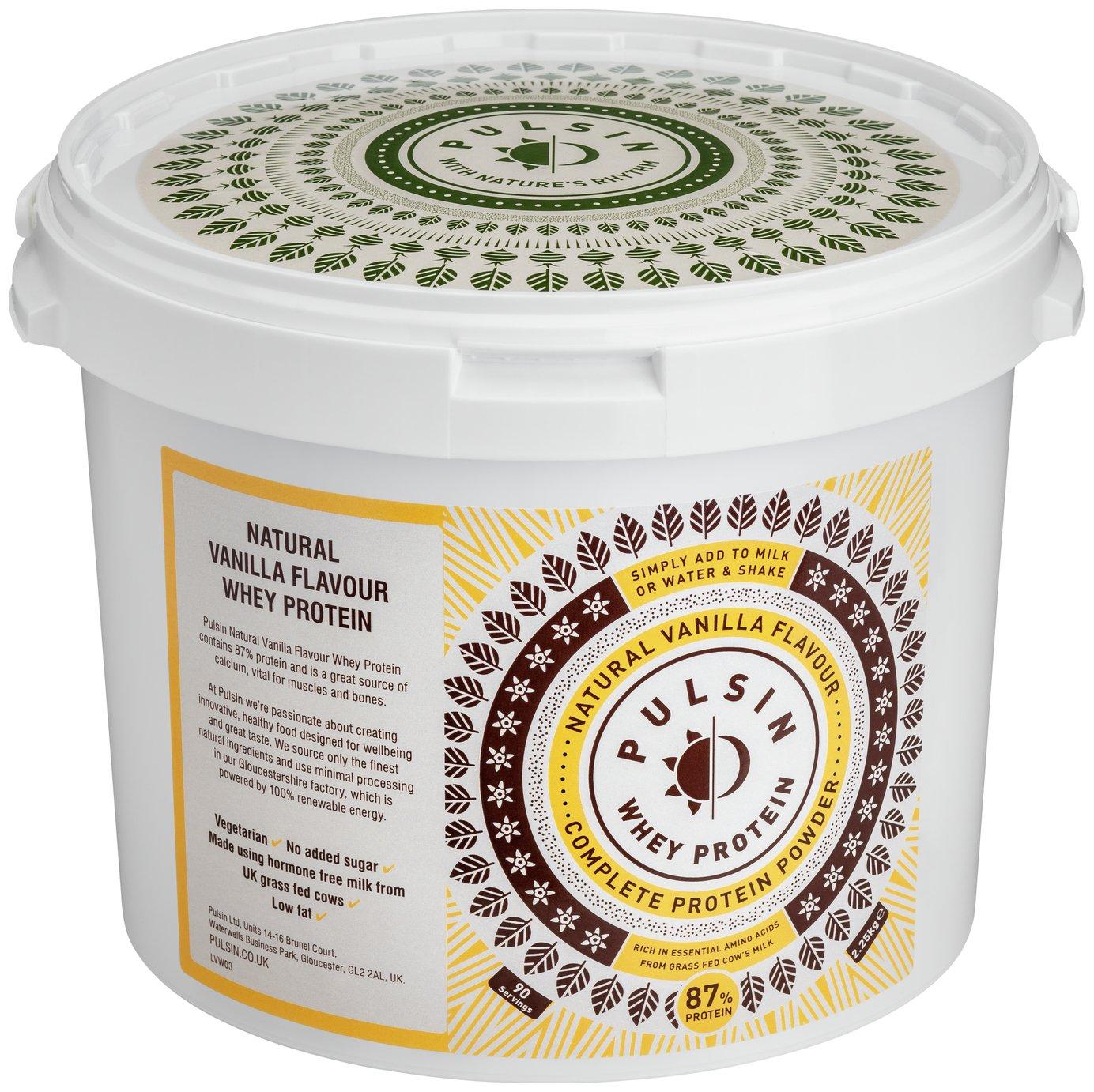 Pulsin Vanilla Whey Protein Powder 2.25kg