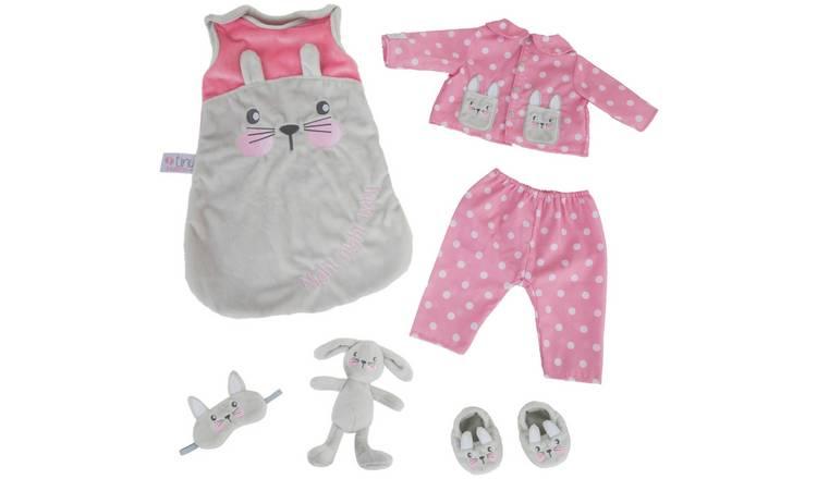 Buy Chad Valley Tiny Treasures Sleeptime Bunny Pyjamas   Doll clothes   Argos