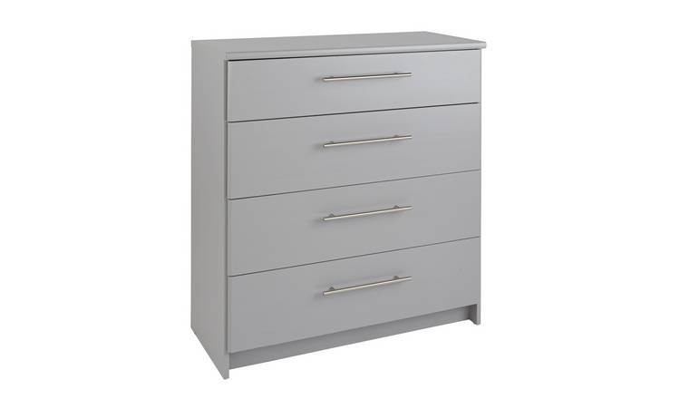 Argos Home Normandy Grey Extra Large 4 Drawer Chest