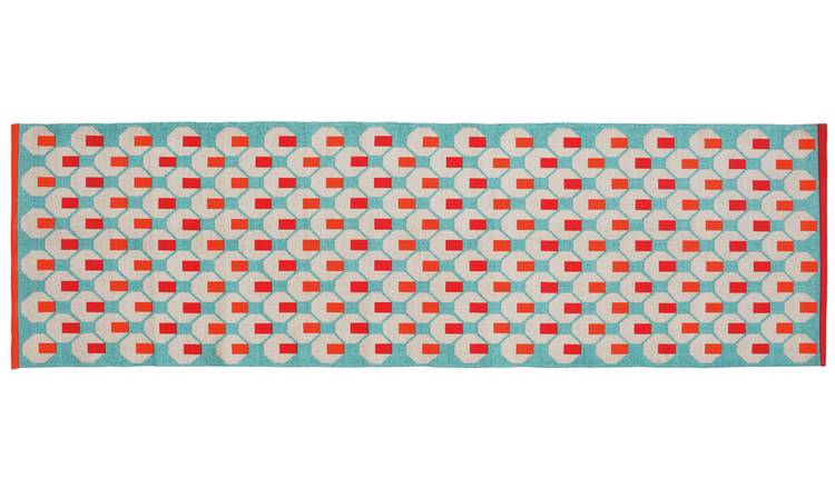 Habitat Octo Cotton Runner - 75x250cm - Blue