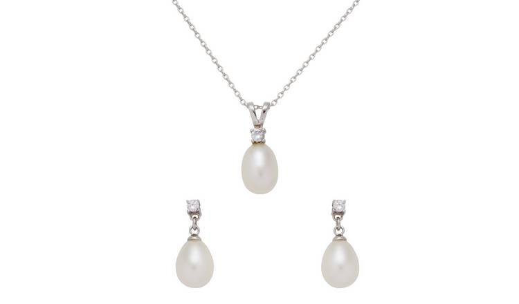 Revere Sterling Silver Cultured Freshwater Pearl Set