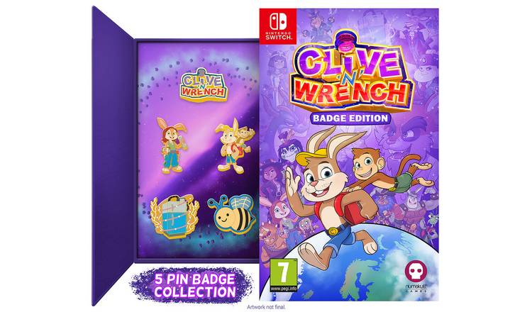 Clive 'N' Wrench Badge Collector's Edition Switch Pre-Order