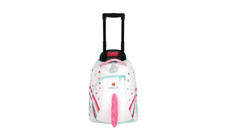 Littlelife Unicorn Suitcase - White and Pink