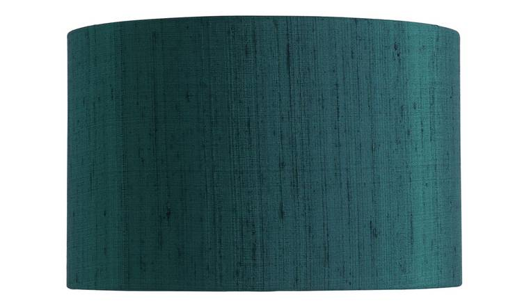 Habitat Drum Silk 25cm Shade - Ink Blue