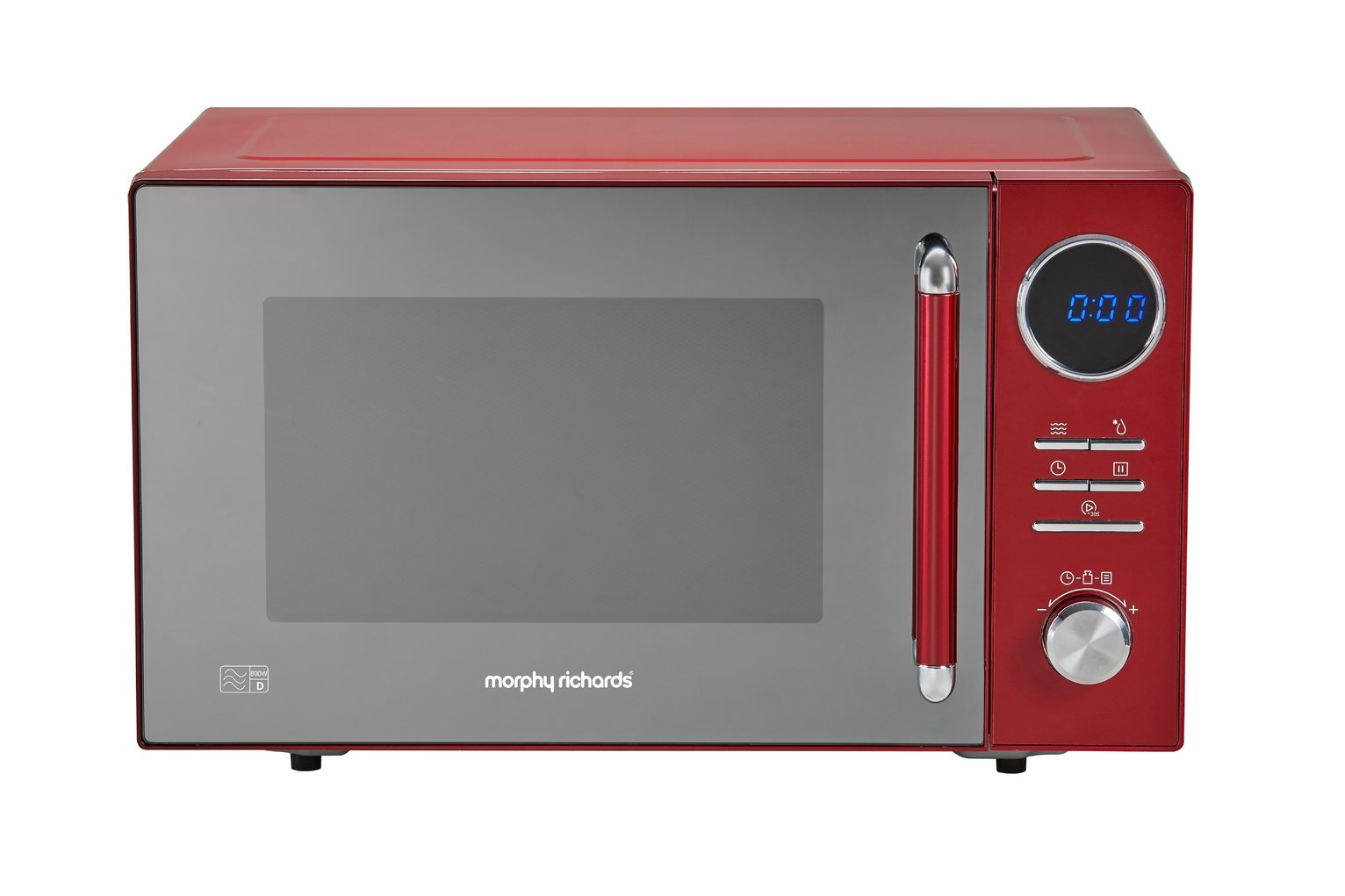 Morphy Richards 800W Standard Microwave - Red