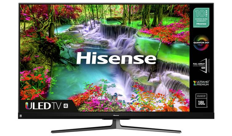 Hisense 55 Inch 55U8QFTUK 4K UHD HDR QLED Smart Freeview TV