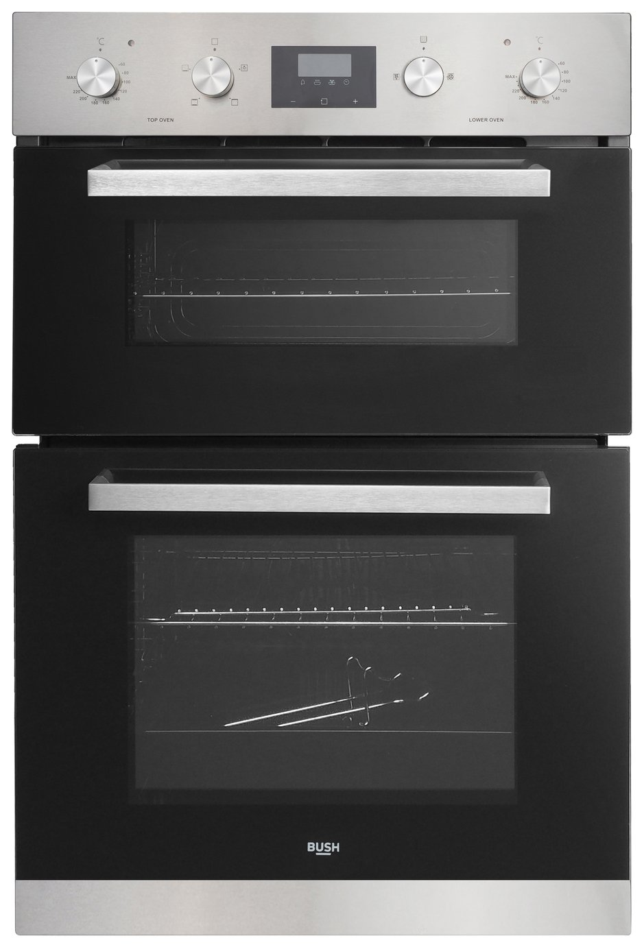 Bush AWBSDFO Built In Double Electric Oven - Stainless Steel