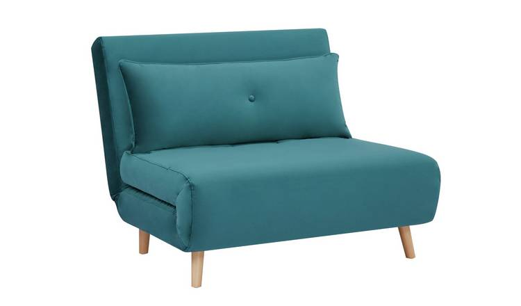 Habitat Roma Small Double Fabric Chairbed - Teal